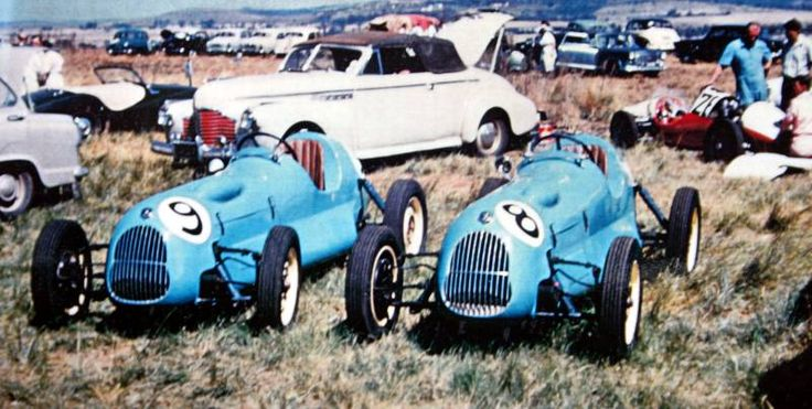 Roy Hesketh Circuit Coronation '100' 1958. Two Peugeots Specials side by side.