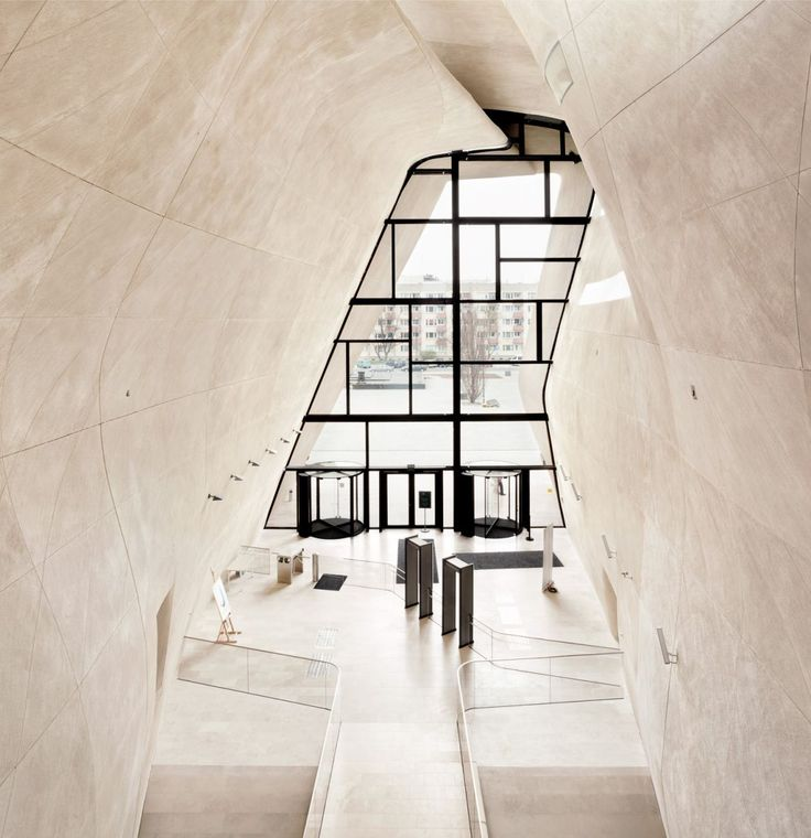 """MUSEUM OF THE HISTORY OF POLISH JEWS The project officially commenced in 2005 with an architecture competition, during which, the proposal """"Yum Suf"""", """"Sea of Reeds"""", by Lahdelma & Mahlamäki Architects was declared winner."""