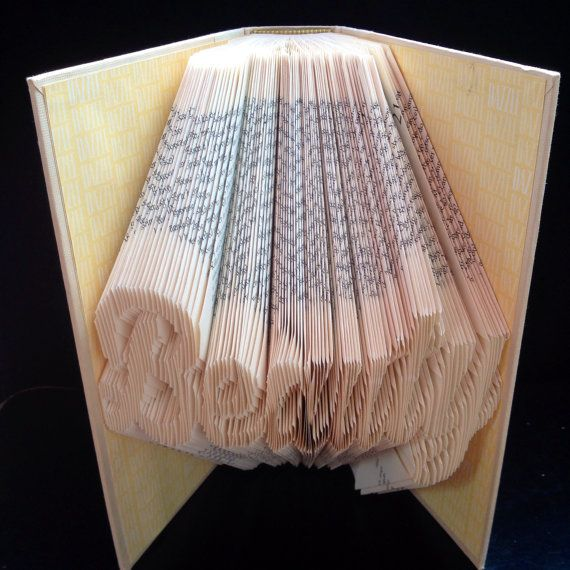 beauty folded book art beauty wedding gift gift for bride maid of