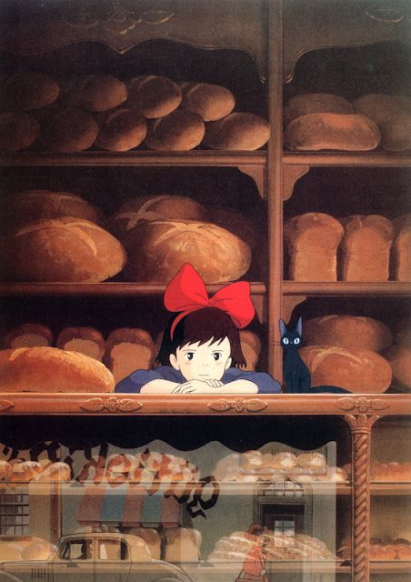 The Art of Studio Ghibli - Kiki! One of my favorite movies - love her black dress.