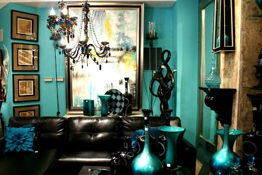 Peacock Teal And Gold Room With Black Home Pinterest