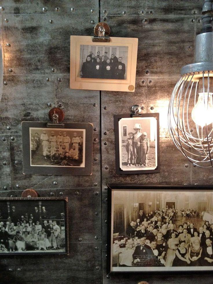 H. Bleu vintage photos, industrial lighting