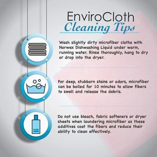 Microfiber Cloth Examples: How To Clean Norwex Tips