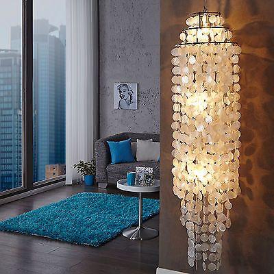 Riesige Hängelampe GIANT SHELL RING XL Perlmutt 150cm Hängeleuchte Lampe