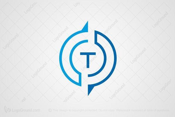 Letter T Compass Logo