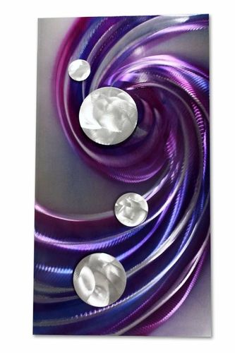 Purple wall Murals | wall panel of the purple splendor handcrafted metal wall art