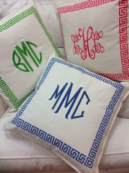 love these cute monogrammed pillows