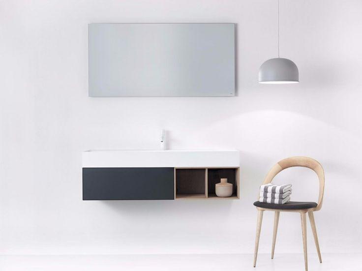 QUATTRO.ZERO Vanity unit with mirror Quattro.Zero Collection by FALPER