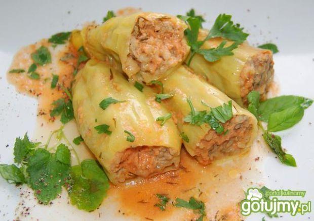 Papryki faszerowane mięsem mielonym,  z ziołami. Pyszne!