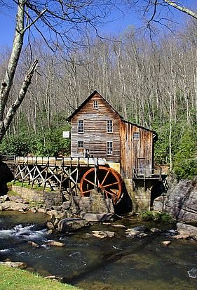 Bluestone River West Virginia | The Glade Creek Mill In Nearby Babcock State Park