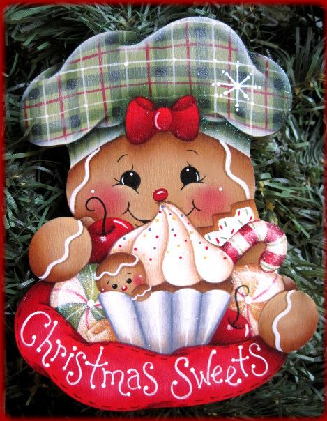 Gingers Christmas Sweets Painting E-Pattern door GingerbreadCuties