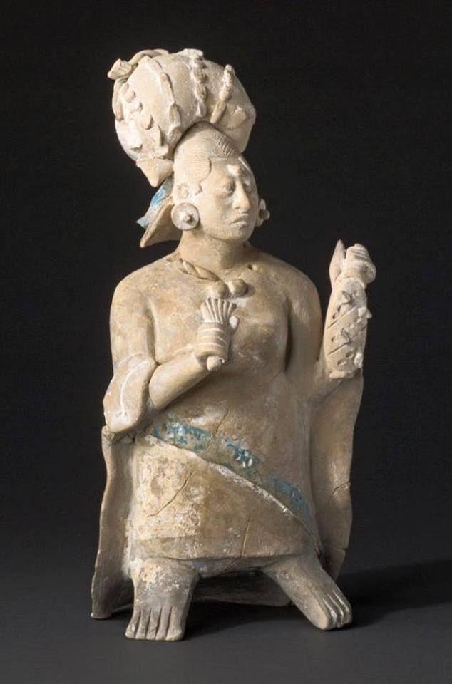 Classic Mayan period (Mesoamerican, c. 250-900 CE) Figure of an Aristocratic Lady (c. 650-800) Jaina Island Style ceramic figurine, 20.3 cm. high The Art Institute of Chicago (Gift of Ethel F. Goldsmith)