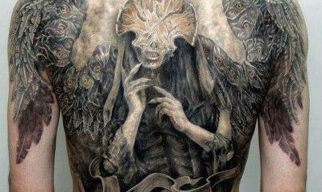 hellboy 2 angel of death tattoo tattoo pinterest. Black Bedroom Furniture Sets. Home Design Ideas