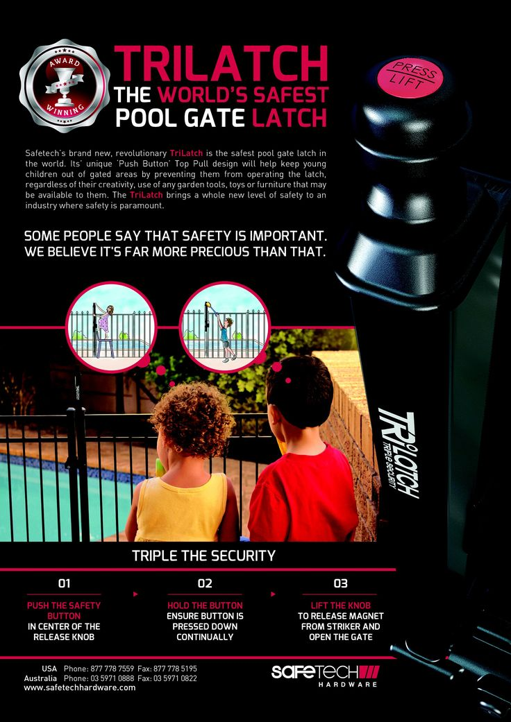 Meet the WORLD'S SAFEST POOL #FENCE #LATCH. @Safetech sets new standard of the security in the #PoolSafety.