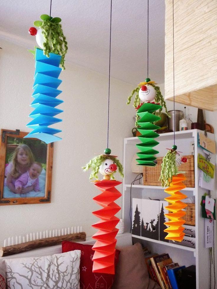 Die besten 25 fasching basteln ideen auf pinterest for Zirkus dekoration