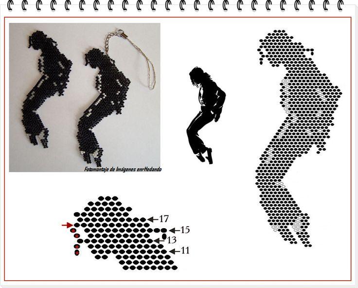 Llavero Michael Jackson con Mostacillas Esquema