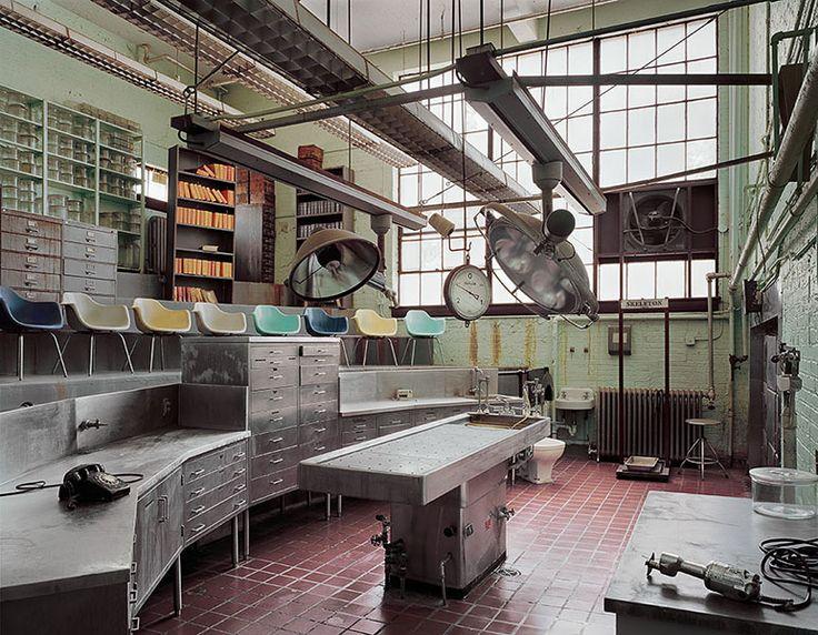 bestabandoned:  Autopsy Room, Abandoned Hospital - St Elizabeth HospitalBy Christopher Payne from his book Asylums