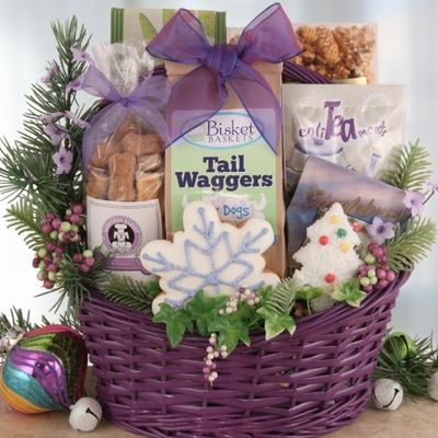 32 best luxury christmas gift baskets for dogs people images on basket holiday friends forever dog and owner gift negle Images