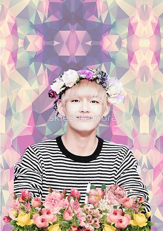 BTS/Bangtan Sonyeondan - Flower Boy Kim Taehyung by skiesofaurora
