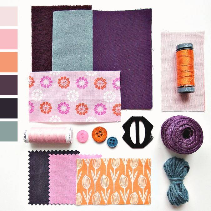 Color curated moodboard by Very Berry for #the100dayproject - teal orange pink purple
