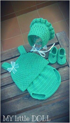 Aquamarine set crochet