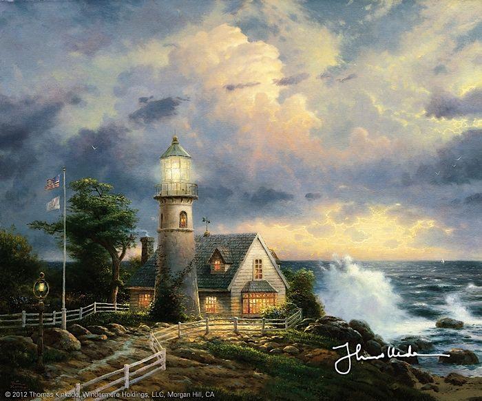 Thomas Kinkade - A light in the storm