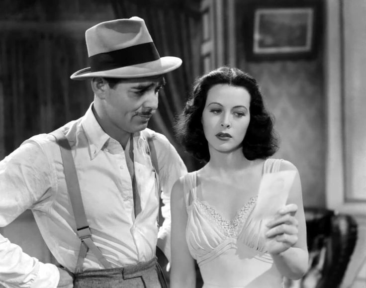 """Gable and Hedy Lamarr in """"Comrade X"""", (1940)"""
