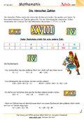 römische Zahlen - Arbeitsblätter | Mathematik | Zahlenarten