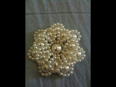 Flor chaquira y Perlas