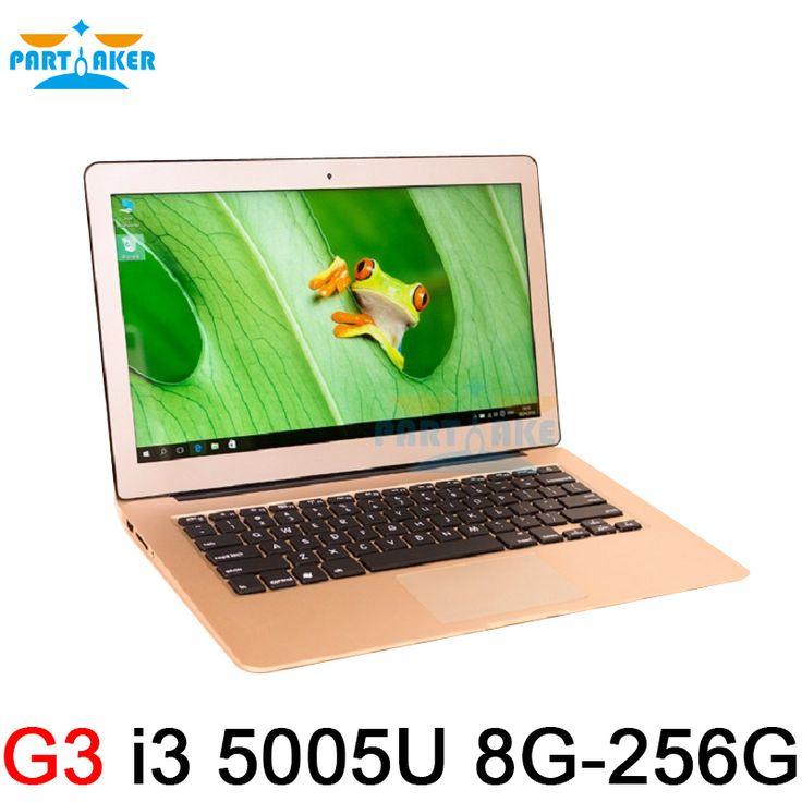 8 GB de Ram 256 GB SSD Ultrafino Intel de Doble Núcleo i3 5005U Rápido Running Windows 8.1 sistema Ultrabook Laptop Notebook equipo de 13.3 pulgadas