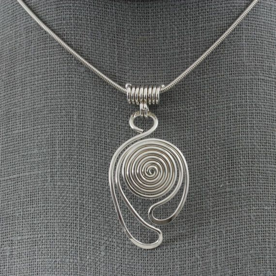 Loopy Spirals Pendant & Necklace Sterling by TeddiHosmanDesigns