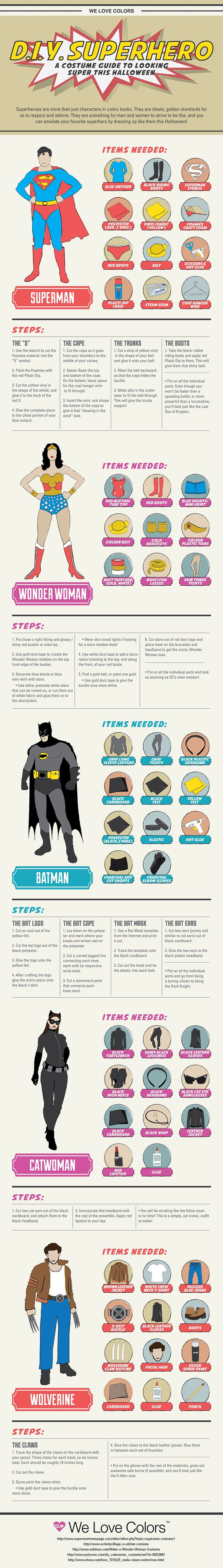 Prepare for Halloween With These DIY Superhero Costumes.  I really like the cat woman