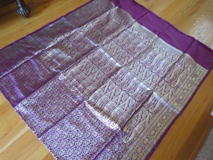 Banarasi Silk Brocade saree, saree, Heavy wedding sari by ZainabBoutique on Etsy