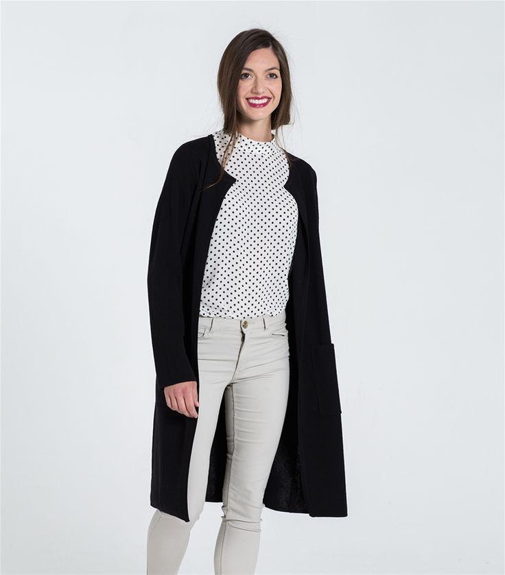 Womens 100% Merino Milano Long Cardigan