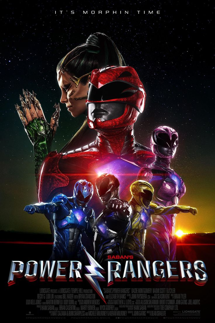 Power Rangers - A group of high-school kids, who are infused with unique superpowers, harness their abilities in order to save the world.