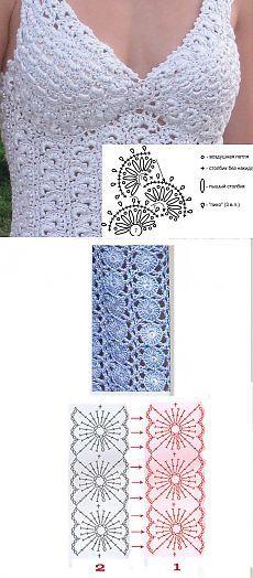 Comment tricoter ruban de dentelle.  Très grande №2 de collecte.