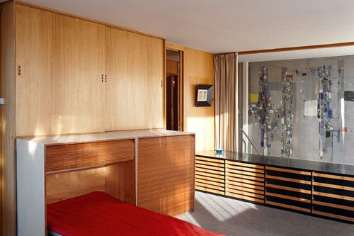 Planetveien 12, architect Arne Korsmo / bedroom/studio