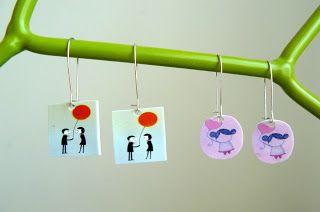 """hilde@home: DIY: Oorbellen met """"creative plastic"""" ..."""