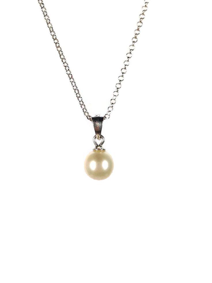 pendentif perle d'eau douce sur chaine en argent 925