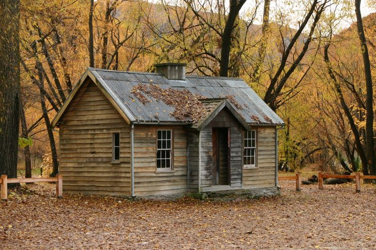 Miner's Cottage in Arrowtown, South Island (New Zealand)