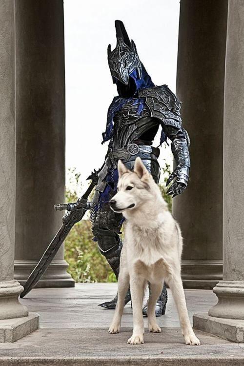 Knight Artorias and Sif cosplay. via reddit