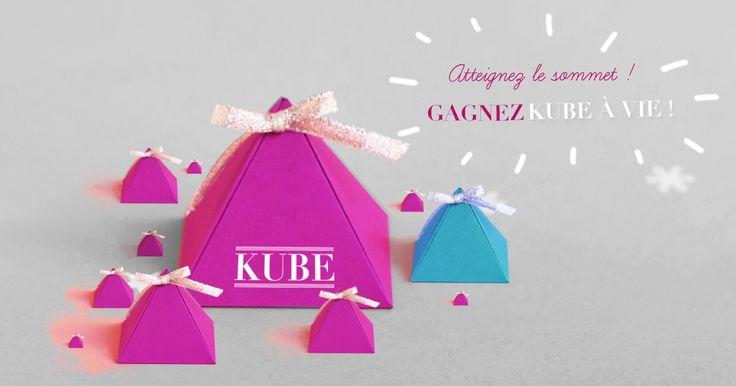 Escaladez la pyramide pour gagner les meilleurs cadeaux. Au sommet : l'abonnement  à la box lecture Kube à vie !
