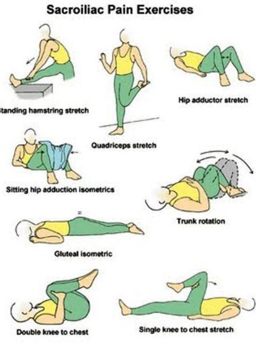 sore back exercises at home
