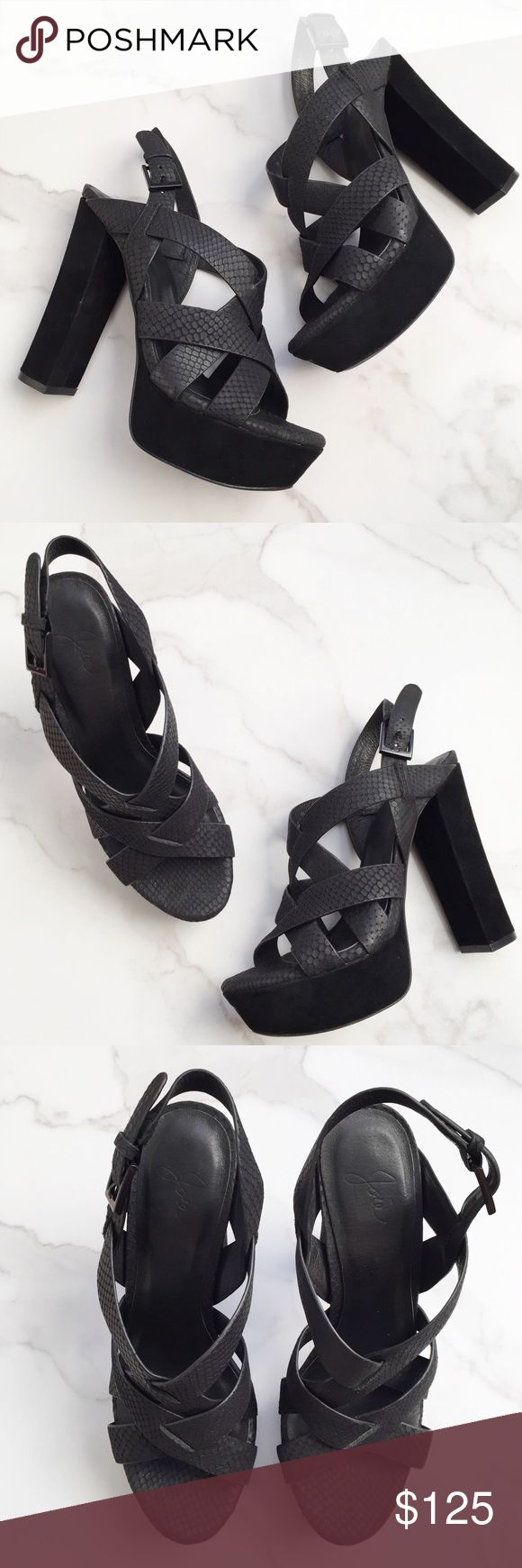 a8fd65b6b704 Joie Inez platform sandals These Joie Inez platform heeled sandals are in  great condition. Only flaw is scuffed front as pictured. Features embossed  leather ...
