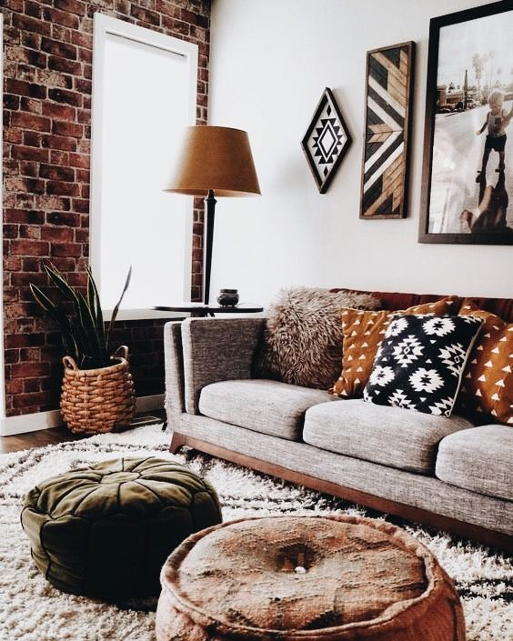 Pretty rustic living room color decoration …