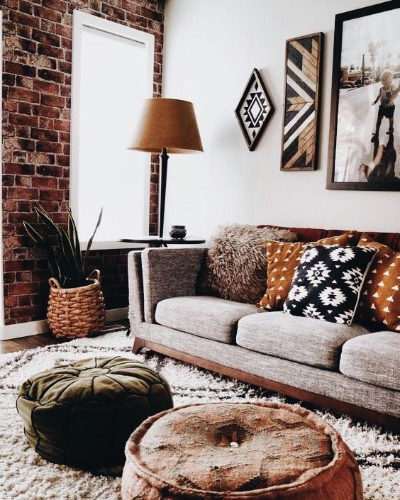 Hübsche rustikale Wohnzimmerfarbendekoration läs…