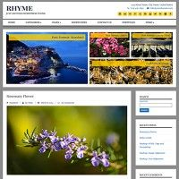 Rhyme - clean, simple and personal Free WordPress theme