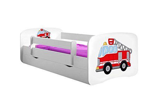 b5eebfab64 Kocot Kids Kinderbett Jugendbett mit Rausfallschutz Matratze Schubalde und  Lattenrost. Kinderbetten für Mädchen und Junge