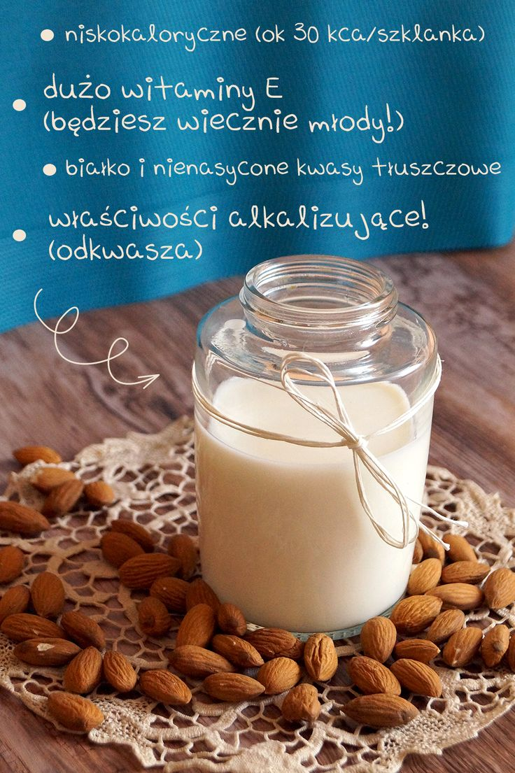 domowe mleko migdałowe właściwości almond milk