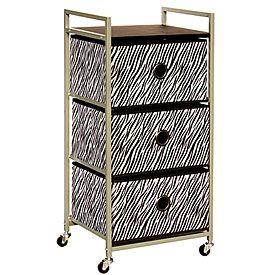 Zebra Rolling Storage Cart At Big Lots.